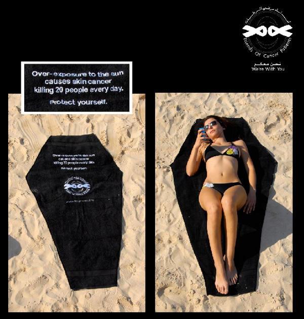 Marketing de guérilla sur la plage