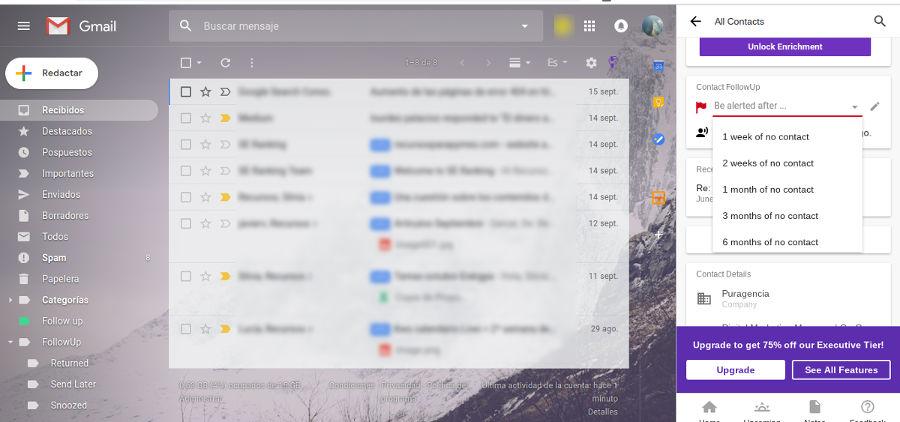 CRM de suivi gratuit pour Gmail